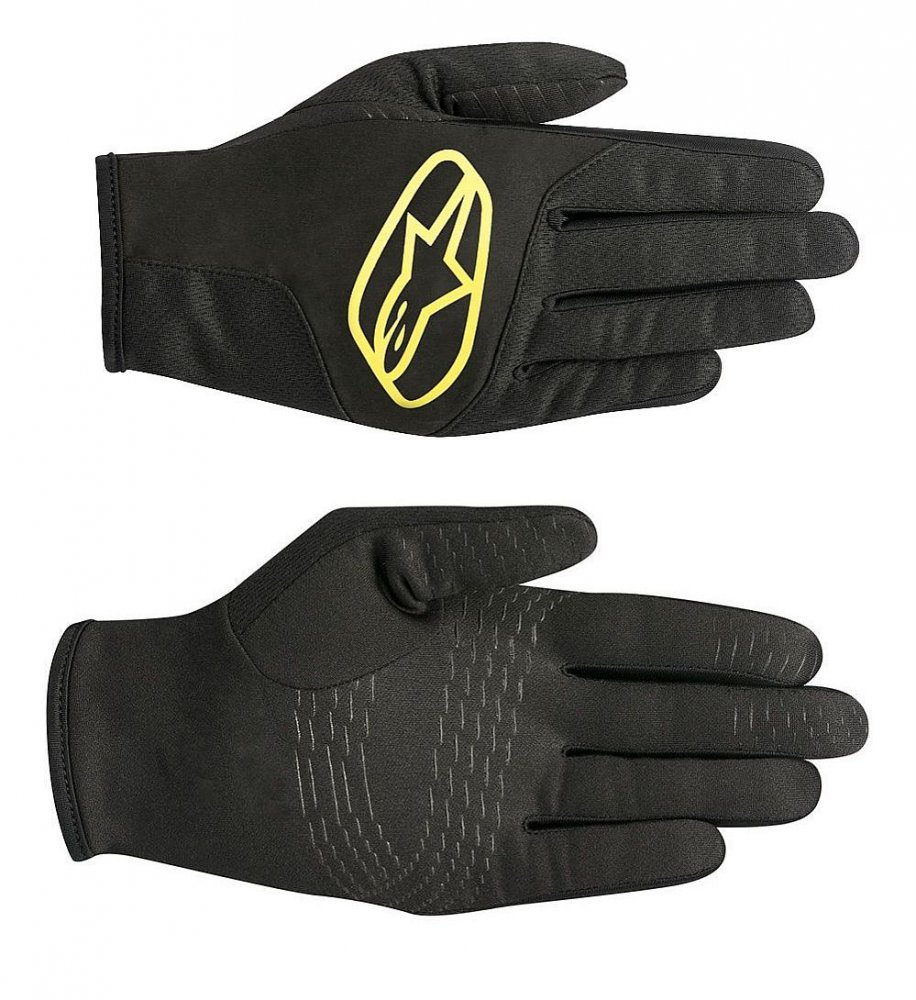 b8e92be683e Alpinestars Cirrus rukavice teplé softshell - Black Acid Yellow