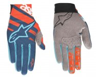Alpinestars RACER rukavice Energy Orange Poseid...