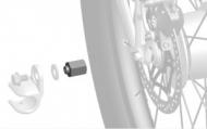 """Adaptér Thule pro systémy náboj. razení Shimano 3/8"""" x 26"""