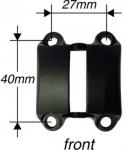 Desticka predstavce Speedlifter SDS Al, 4-díry Ø31,8mm, cerná